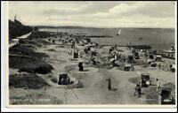 NIENDORF Ostsee Strand 1934 Echtfoto-AK Altona gelaufen
