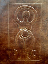 A5 Handmade Leather Journal Book of Shadows -  Pagan Wicca GODDESS