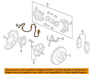Infiniti NISSAN OEM 05-06 G35 ABS Anti-lock Brakes-Front Speed Sensor 47910AL805