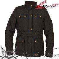 Weise Windsor Mujer Clásico Estilo Negro Chaqueta Moto + Protector de Espalda