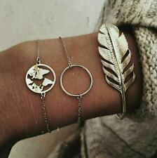 Feather Bracelet Set