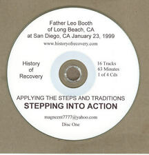 FATHER LEO BOOTH STEPPING INTO ACTION4 CDs Alcoholics Anonymous ACOA ALANON