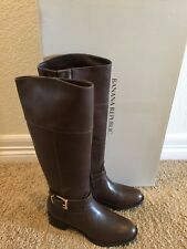 Banana Republic Women's Adelpha Riding Tall Brown Leather Boots Size 5.5