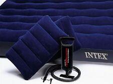 INTEX Luftbett Gästebett Reisebett Classic Downy Blue Queen Set 4 Teilig 68765