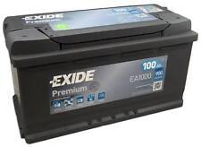 Batterie démarrage voiture Exide EA1000 12v 100ah 900A 353x175x190mm