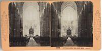 Nancy Interno Da L Chiesa Saint-Epvre Foto Stereo Vintage Albumina c1870