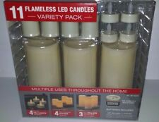 11 Flameless LED Candles Variety Pack All Duracell batteries Included BRAND NEW