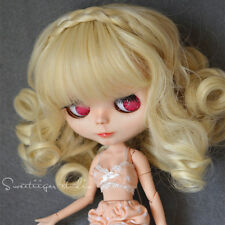 "?Tii?8-10"" NEO 12"" Blythe Hair doll wig milk blond princess curly"