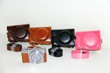 for Canon PowerShot G9XII G9X II/ G9 X Mark II, Leather Case Bag Cover + Strap