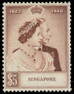 SINGAPORE 22 (SG32) - King George VI Silver Wedding Jubilee (pb29352)