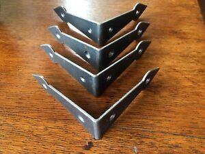 Four antique style iron box corner plate chest corner protector corner strap C1