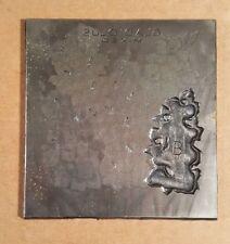 Vintage Etching Engraved Printing Machine Press Plate Stamp ~Gladiolus Mixed Top