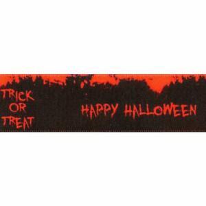Berisfords Halloween Ribbon Spooky Spiders Pumpkins Skulls - 20mm x1/2/5/10/20m