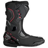 Motorradstiefel hochwertige XLS Racing Boots Touringstiefel schwarz Gr. 41 - 46