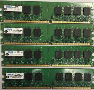 4GB 4x 1GB PC2-5300 DDR2 667MHz Desktop Memory RAM Non-ECC DIMM Dell HP Lenovo