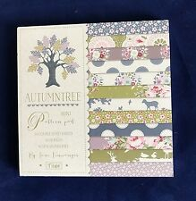 Tilda Autumn Tree Mini Patterned Paper Pad 24 Double Sided Sheets Acid Free