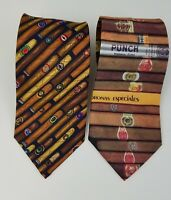 Alynn 100% Silk Men's Cigar Tie and Ralph Marlin 100% Polyester Cigar Tie USA
