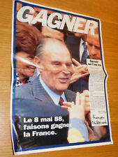 1988 francois mitterrand chirac PROGRAMME ELECTION FRANCAISE French Presidential