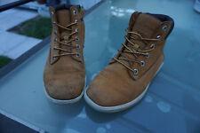 Timberland niñas señora zapatos botas botas outdoor talla 37 cuero usado Camel