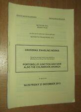 NR Western Signalling Notice: Portobello Jn and Iver plus Colnbrook Dec 2013
