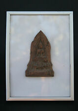 ANTIQUE THAI TERRACOTTA VOTIVE PLAQUE BUDDHA BUDDHIST