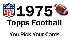 You Pick Your Card - 1975 Topps Set Builder - Football Card Selection