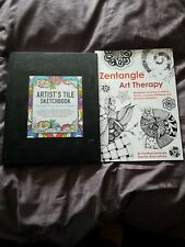 Zentangle Art Therapy Book Plus Artist's Tile Sketchbook