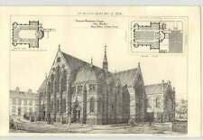 1874 Proposed Wesleyan Chapel New Quarterly, Henry Walker Leeds