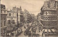 London, UNITED KINGDOM - Queen Victoria Street - 1920 - old double-decker buse