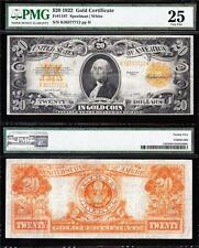 VERY NICE Bold & Crisp VF 1922 $20 GOLD CERTIFICATE! PMG 25! FREE SHIP K36377712