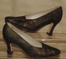 """BALLY 7 M 'Gemini' Paisley Leather 3.5"""" High Heel Pump Made in Italy"""