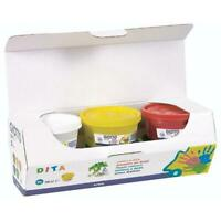 Box with 6 Jars 100ML of Colours in Finger Tempera Toxic Giotto Fila
