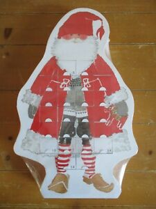 "IKEA JULMYS Christmas Advent Calendar White Red Santa 24 boxes 18"" X 11.5"" X 2"""