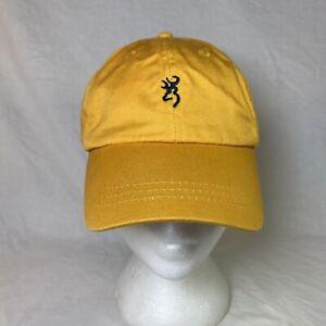 Browning Hat Cap Gun Deer Hunting Yellow Youth Adjustable field outdoors
