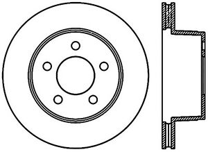 Disc Brake Rotor-4WD Front Left Stoptech 127.67022L