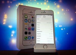 iPhone 5S 64GB Silver White Unlocked Unit **RARE IOS 7.0.2**