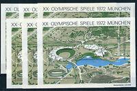 Bund Block 7 sauber postfrisch (6 Stück) Olympische Spiele München 1972 MNH