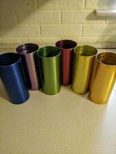 6 set Vintage Aluminum Metal Colored tumbler cup Edgerton Ohio