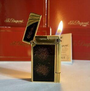 Vintage lighter Dupont Ligne❤️Gold💖Dust Very Good Very Rare