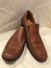 Sandro Moscoloni Solid Tan Leather Dress Casual Driving Moccasin Loafers 11.5 D