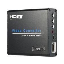 Upscaler Composite RCA AV S-Video to HDMI 4K Converter Adapter For DVD HDTV Y95O