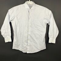 Brooks Brothers 346 Mens Slim Fit Striped Long Sleeve Shirt Size 17 4/5