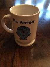 Mr Perfect ceramics mug Mr Men 2004 Roger Hargreaves Biscuit Coffee Break Gift