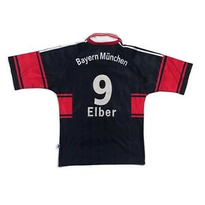 🔥Elber #9🔥Original 1997/98 Bayern Munich Home Football Shirt Vintage - Size S