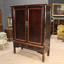 Closet Wardrobe Style Antique Furniture Cabinet Chinese Wooden Lacquered 900 Xx