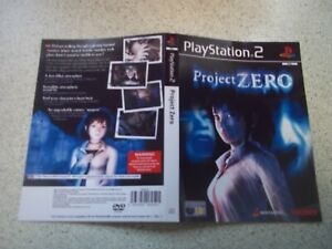 PROJECT ZERO .PAL PLAYSTATION 2 Replacement Box Art Sleeve/ Inlay Only.