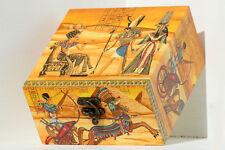 Legno fatto a mano a cerniera media Storage/Ciondolo Box DECOUPAGE EGYPTION