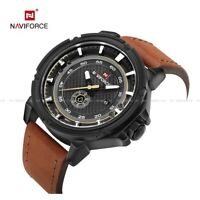 Naviforce Wrist Watch Men's Quartz Date Leather Army Analog Sport Gifts 9083 Hot