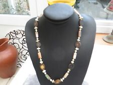 /shell detail rare item quality Stunning Art Deco quirky necklace stone