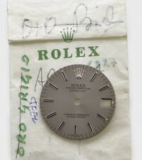 Rolex original slate grey dial steel Datejust 31mm 6827 new old stock  067